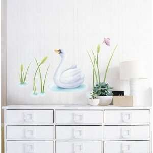SWAN 2 ADHESIVE WALL DECOR MURAL STICKER SWST 26