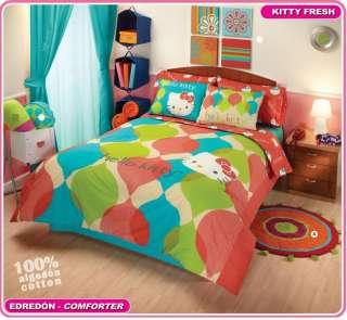 Girls Teens Hello Kitty Comforter Bedding Set Full 8pc