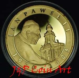 2005 Coin of Poland Polish Silver 10zl Pope John Paul II G PL