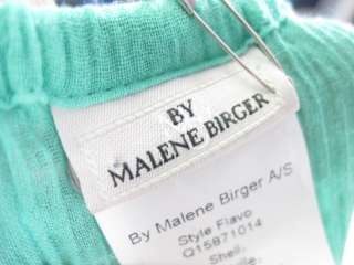 NWT MALENE BIRGER Mint Peasant Top Blouse Size 38 $298