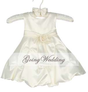New Satin Flower Girl Party Bridesmaid Wedding Pageant Dress