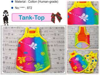 Small Dog Clothes Tank Top Vest Halter Pet Shirts,872