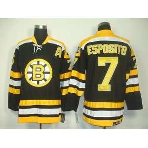 Esposito #7 NHL Boston Bruins Black Hockey Jersey Sz52