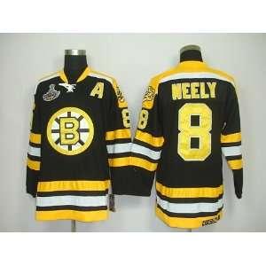 Neely #8 NHL Boston Bruins Black Hockey Jersey Sz50