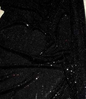SEQUIN KNIT STRETCH FABRIC BLACK 56 BY THE YARD