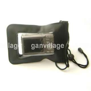 Black Waterproof Digital Camera Pouch Dry Bag Ski Case