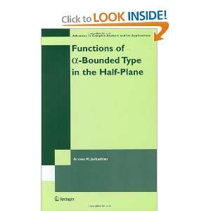 Functions of a Bounded Type in the Half Plane (Advances in