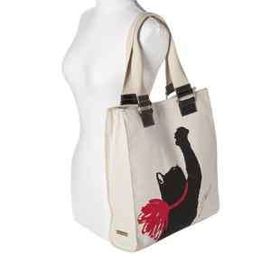 NWT Jason Wu for Target Milu Cat Print Canvas Tote Hangbag Bag