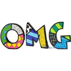 OMG Word Art for Table Top or Wall by Romero Britto