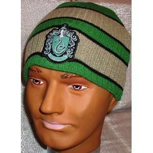 Harry Potter SLYTHERIN Embroidered Crest Green/Grey Knitted Cap,Hat