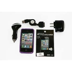 Factory Outlet Brand  High Quality iphone 4/4s Purple Tpu Case, Car