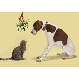 Marian Heath Portal Boxed Christmas Cards, Cat and Dog