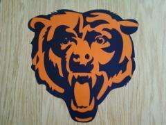 Chicago Bears Logo Sticker Decals Cornhole 12 set of 2