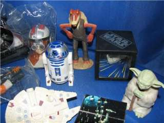 1990s ASSORTED STAR WARS FIGURES AND SHIPS 11pc. LOT FROM TACO BELL