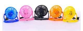 USB Portable Rotatable Mini Burger Electric Fan  Yellow