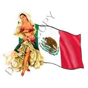 Sexy Mexican Flag Senorita Pinup Decal s124 Musical