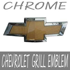Front Grill CHEVROLET Chrome Border Bowtie Emblem For 06 12 Chevy