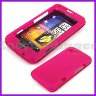 Rubber Hard Case Cover HTC Desire Z TMobile G2 Hot Pink