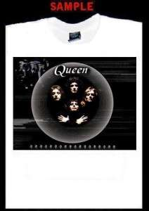 QUEEN CUSTOM PHOTO T SHIRT TEE freddie mercury band 549