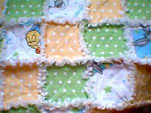 Sweet Dreams baby Tweety & Bugs rag quilt