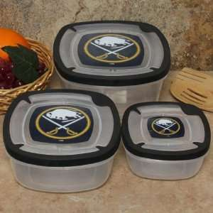 Sabres Plastic Food Storage Container Set 3pc Sports & Outdoors