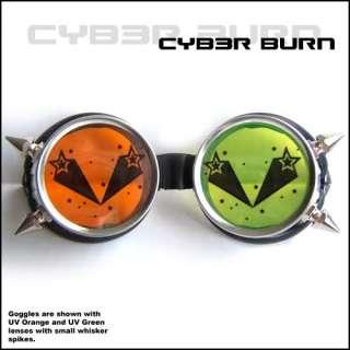 Shooting Star Cyber Goggles Goth Punk Rave Steampunk UV