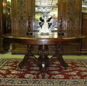 Antique Style Country French Hand Carved 72 Round Solid Hardwood