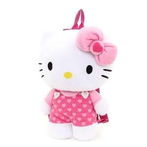 Pink Hearts Hello Kitty (C) Plush Backpack