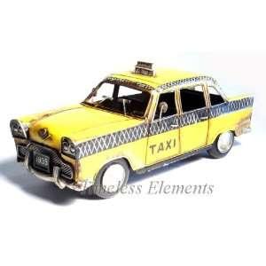 New York NYC Yellow Taxi Cab Car, Tin Vintage Display