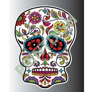 Sugar skull 1 2 sticker vinyl decal 3 x 2.2