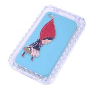 Fashionable **light blue** Beautiful Girl Printed Case Cover
