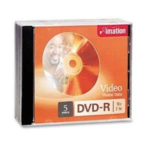 Imation DVD R Discs 4.7GB 16x With Jewel Cases Silver 5