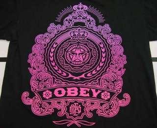 OBEY Street Art Black and Purple T SHIRT Sz Mens XL