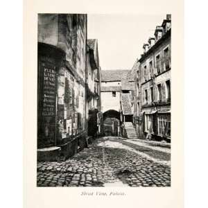 1900 Print Street Scene Cityscape Falasie Calvados Basse
