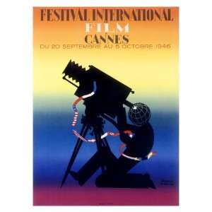 Cannes Film Festival, c.1946 Giclee Poster Print, 24x32