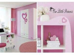 OUR LITTLE PRINCESS Girls Bedroom Wall Art Decal Decor