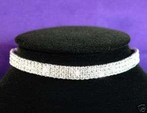 Row Stretch Bridal Crystal Rhinestone Choker C002