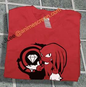 Sonic the Hedgehog Red Knuckles w/ Master Emerald Shirt