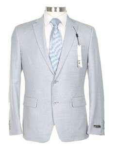 495 Bar III Slim Fit 42R Mens Pearl Gray Stepweave Wool Suit