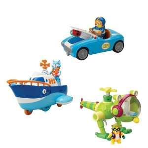 Special Agent Oso Race Car Whirly Bird Motor Boat Bundle Toys & Games