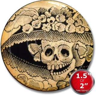 Dead de los muertos Skull Calaveras de Posada Dresser Knob Pull