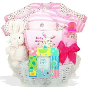 Some Bunny Loves Me Personalized Baby Gift Basket Baby