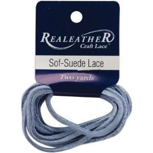 Silver Creek Sof suede Lace 3/32 Carded 2 Yards light Blue