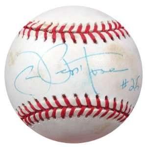 Joe Pepitone Autographed AL Baseball NY Yankees PSA/DNA