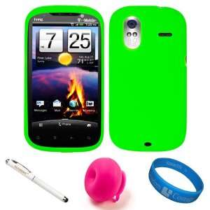 Lime Green Rubberized Soft Silicone Protective Skin Cover for T Mobile