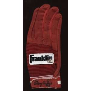 Gary Carter Red Franklin Game Issued Batting Glove Auto   Autographed