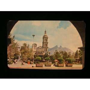 com Plaza Zaragoza, Monterrey, Mexico Postcard not applicable Books