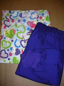 MEDICAL UNIFORM SCRUB TOP CUFF PANT SET HEART PRINT