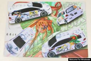 New 1/10 Japanese Cartoon Self Adhesive RC Car Decal