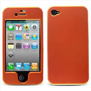 Apple iPhone 4S Sprint Verizon AT&T Orange Rubberized Hard Case Cover